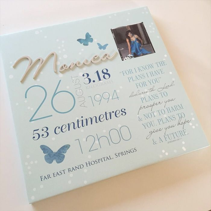 Dult gifts: birth canvases | LoveCoco