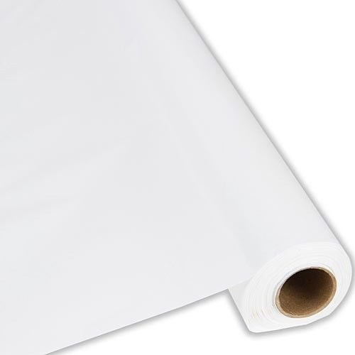 "White Plastic Banquet Tablecloth Cover Roll - 40"" x 300' - Covers 30 Tables! #AnyPartyorEvent"
