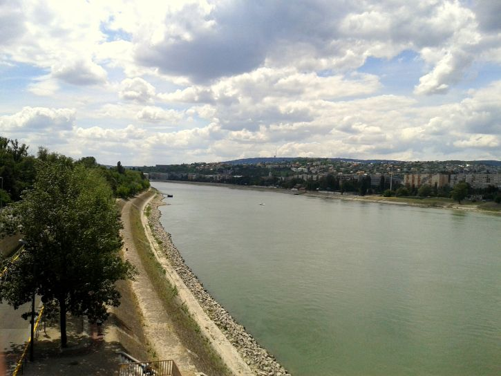 View of Duna from Margaret Island in Budapest