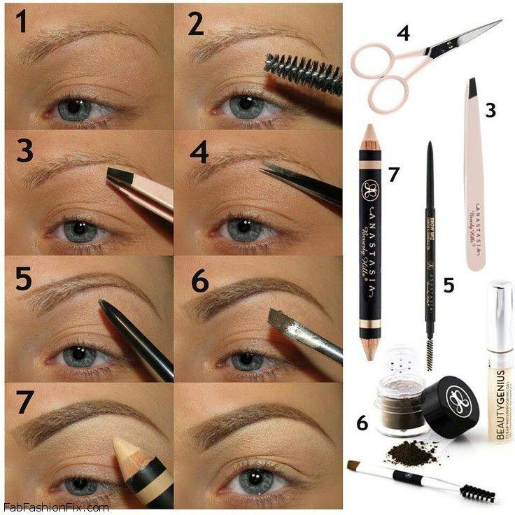 How To Shape Eyebrows With Eyebrow Kit Beauty Eyebrows Makeup