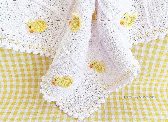 CROCHET PATTERN Little Duck Blanket by KerryJayneDesigns