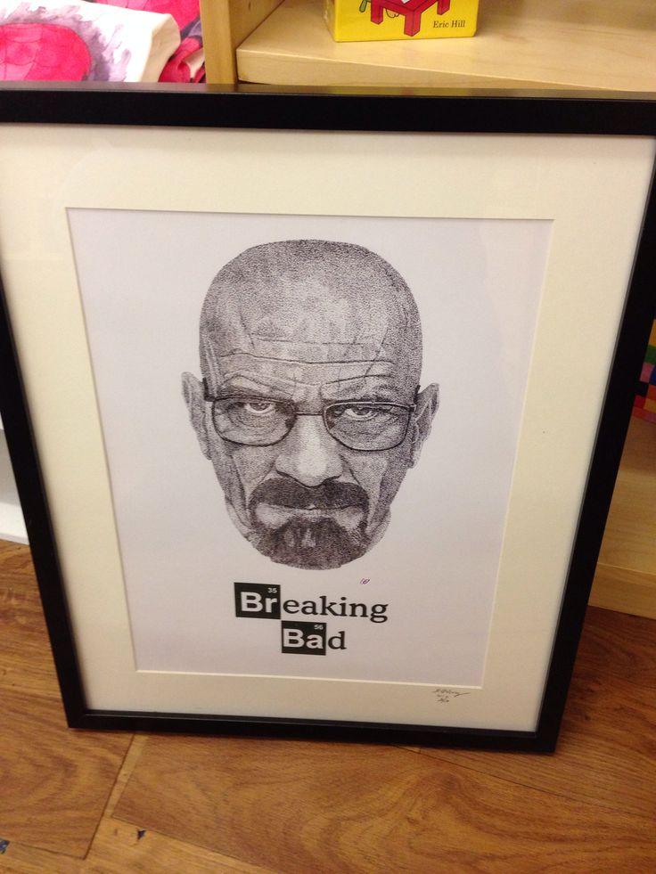 Breaking Bad print by local artist Duncan Osborne very popular ltd edition framed print ready to hang unlike Walter