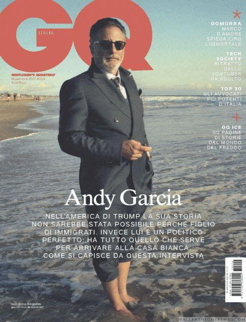 Andy García recorre la isla de Cuba para el número de noviembre de GQ Italia