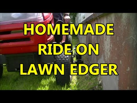 HOMEMADE RIDE ON MOWER LAWN EDGER