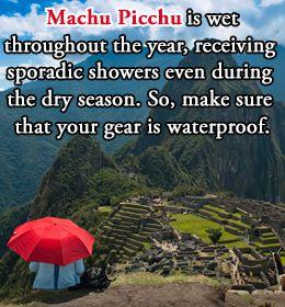 Planning a trip to Machu Pichu