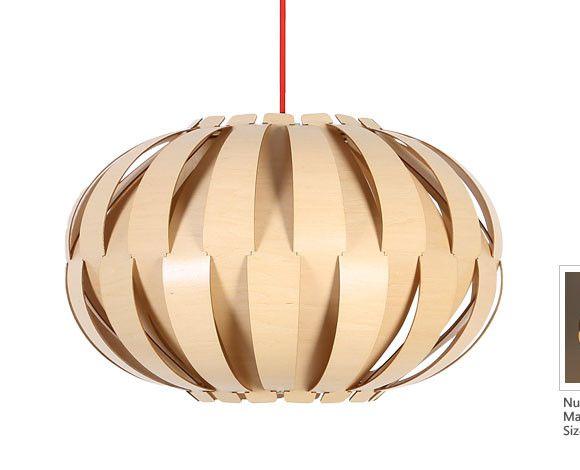 Originálne závesné drevené svietidlo z kolekcie iWood - PUMPKIN