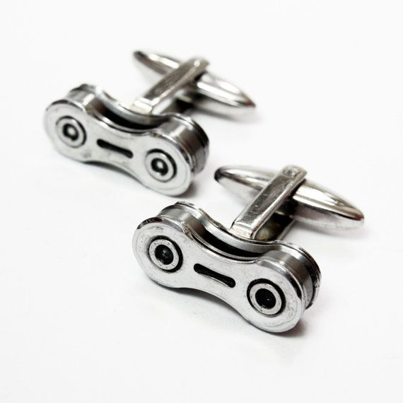 For The Cycling Type: Bike Chain Cufflinks