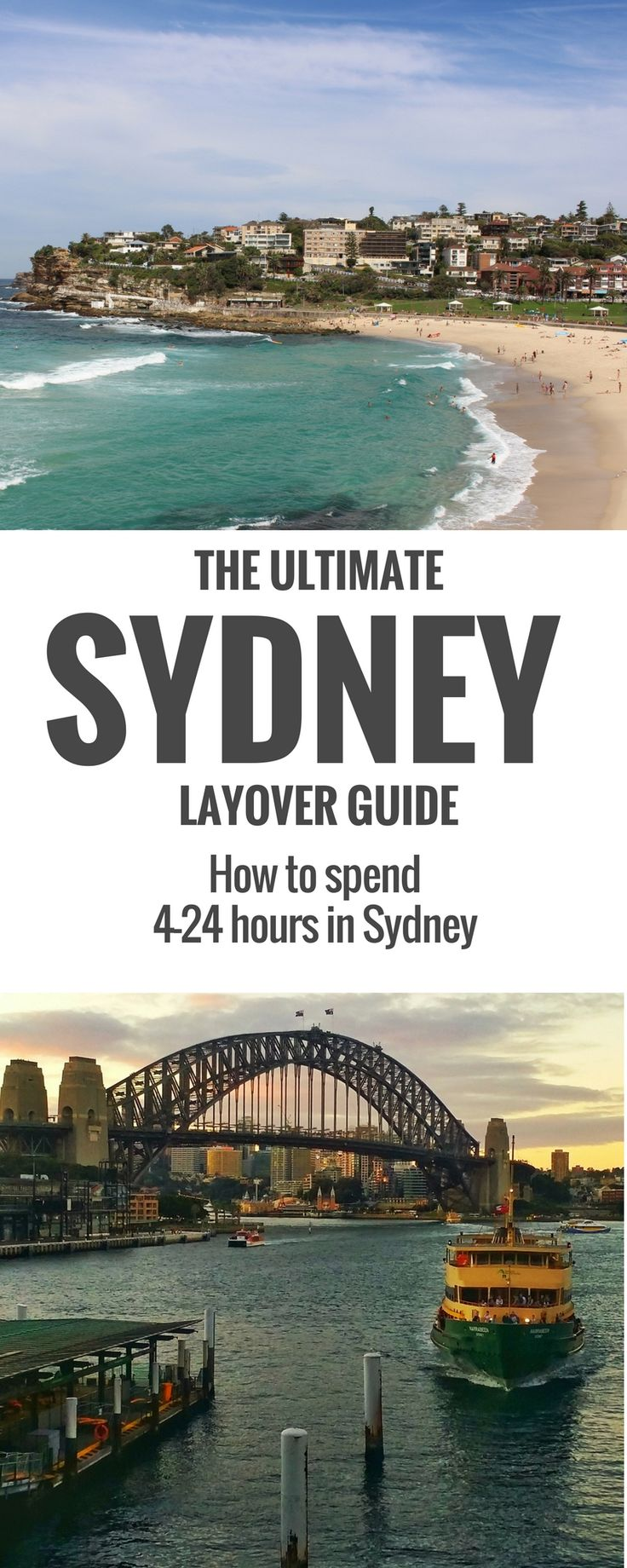 If you have a day in Sydney this guide will help you figure out how much you can see in 4, 8 or 12 hours.