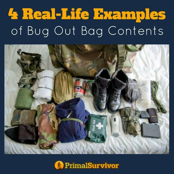 4 Real Life Examples of Bug Out Bag contents | Posted by: SurvivalofthePrepped.com