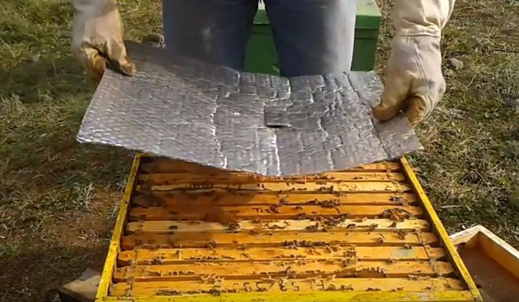 Ορεινή Μέλισσα: Έξυπνη πατέντα για φουλ θερμομόνωση το Χειμώνα. Τα μελίσσια πάνε σφαίρα (video)