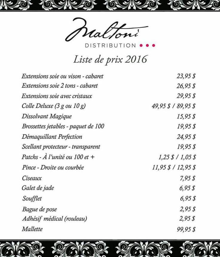 À la demande générale, notre liste de prix 2016.  #cils #extensions #longscils #maltoni #lash #mascara #maquillage #beauté #lashmaster #lashartist #lashtraining #technicienne #longuetenue #extensionscils #posedecils #volumelash #volume3d #eyelashes
