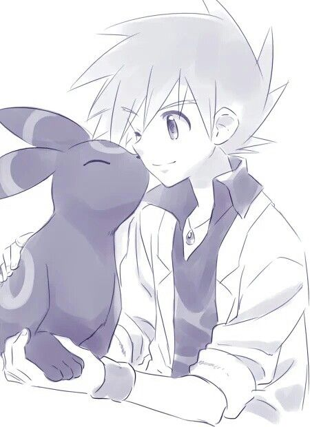 Gary Oak and Umbreon ^.^ ♡ I give good credit to whoever made this