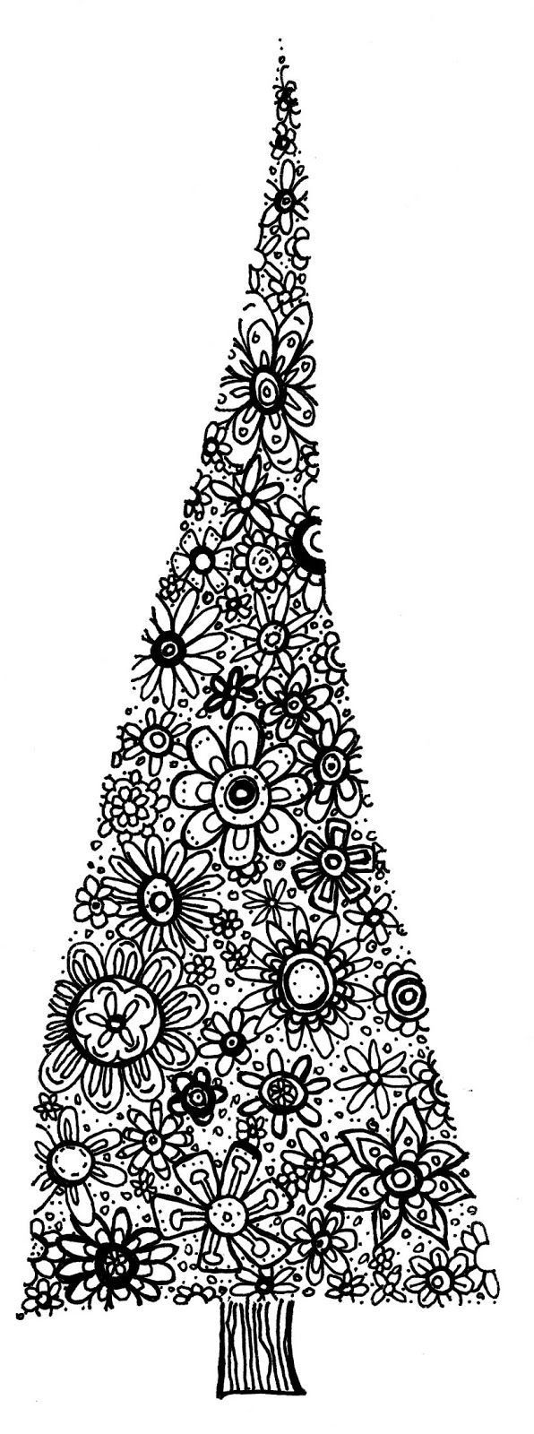 How to draw christmas tree red design hellokids com - Icolor Christmas Trees