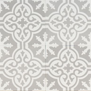 Pop of fun and pattern - grey Moroccan bazaar reproduction tile | jatana interiors