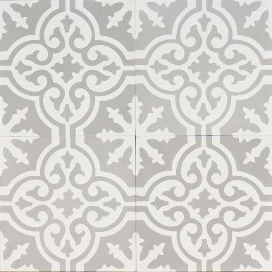 Grey Moroccan Bazaar Reproduction Tile Jatana Interiors