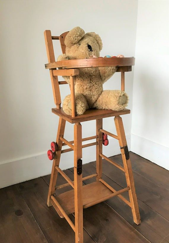 Doll S High Chair Vintage Toy High Chair Vintage High Chair