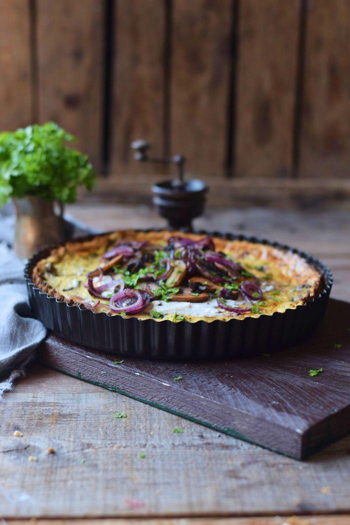 Herzhafter Cheesecake mit Pilzen - Savoury Mushroom Cheesecake #Soulfood #cheesecake | Das Knusperstübchen