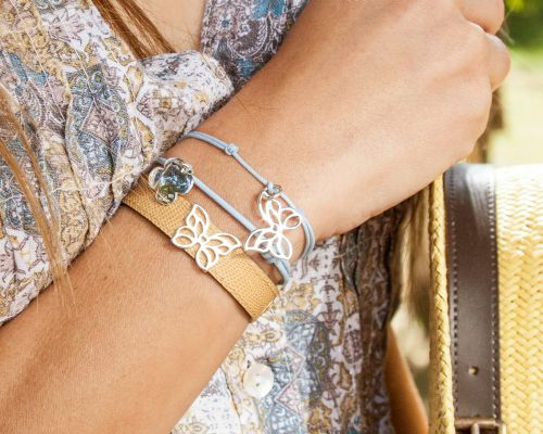 The openwork Butterfly by Lilou is now available for leather bracelets! Choose your favorite color to compose a unique bracelet! Available in 23k gold-plated and 925 silver #lilou #butterfly #spring #leather #openwork #unique #compose #bracelet