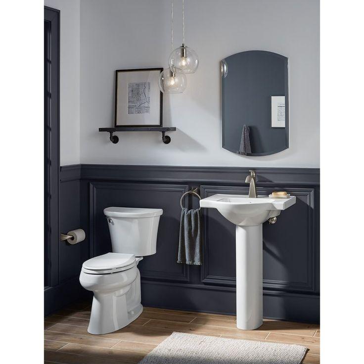 Veer Ceramic 24 Pedestal Bathroom Sink With Overflow Bathroom