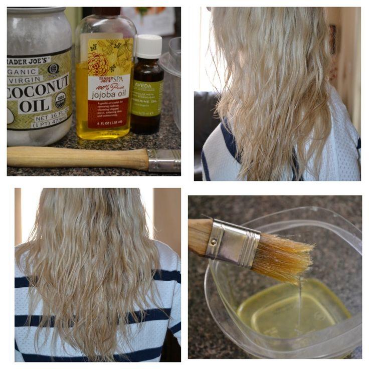 DIY Hot Oil Hair Treatment (Coconut Oil, Jojoba Oil & Your Fave Essential Oil!)  Makes hair so soft and shiny!