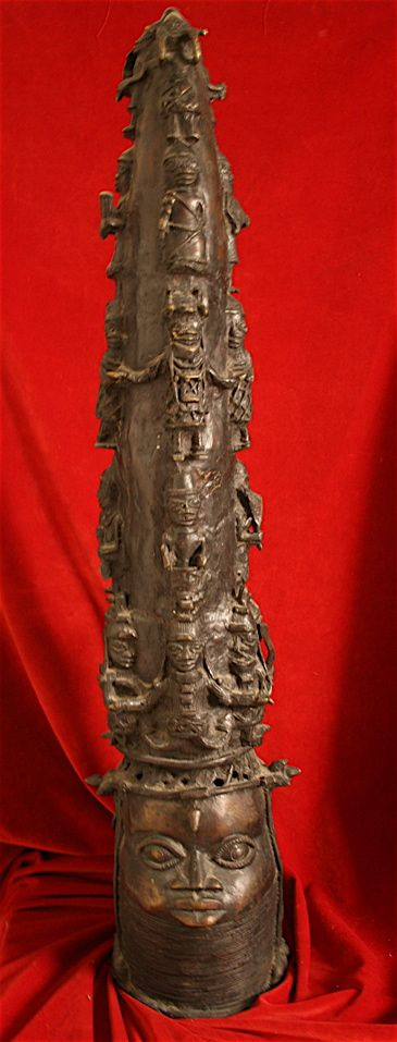 Benin Bronze Statues Antiques Decorative Interior
