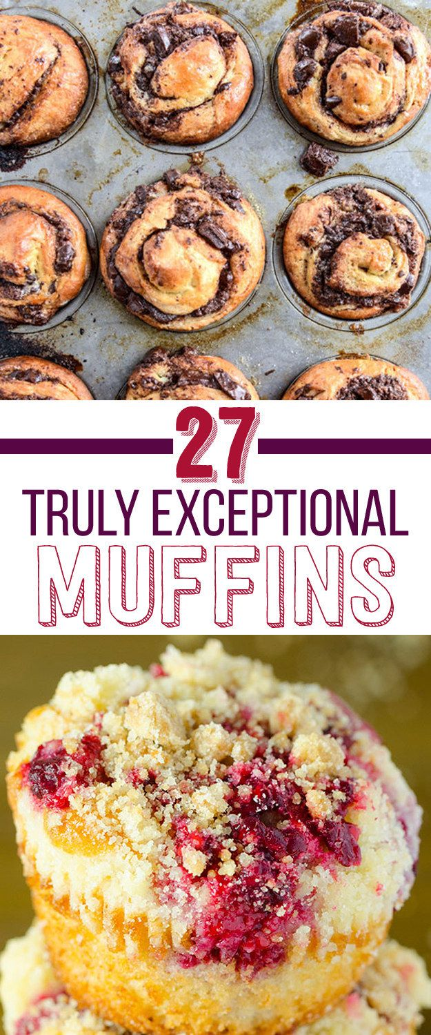 27 Delicious Muffins That Have It All Figured Out #recipe collection #dessert #muffins