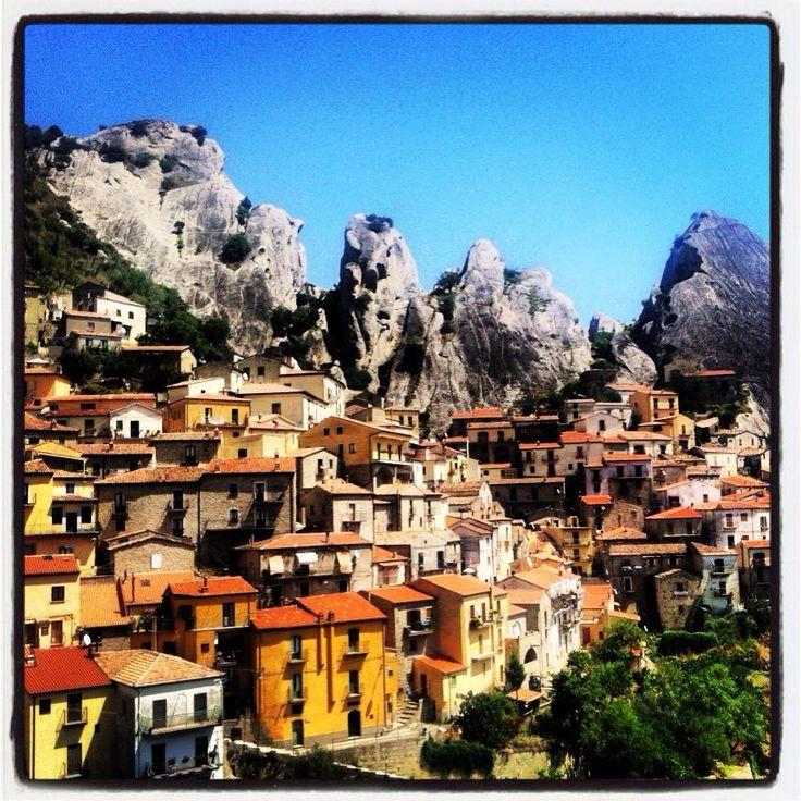 Panoramica di Castelmezzano (PZ) - Il volo dell'Angelo