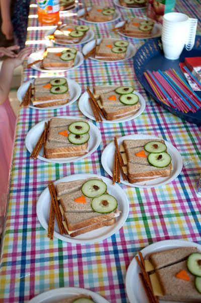 If your on the look for some cute owl party ideas, here's a great option to consider. Why not serve up some owl sandwiches--they're sure to bring your table to life!