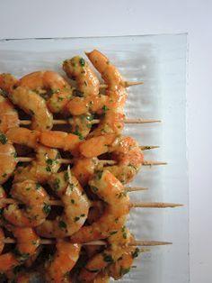 Brochettes de crevettes à l'asiatique - Weight Watchers Propoint