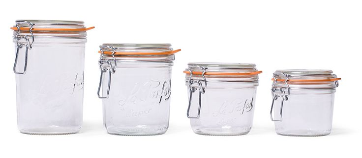 We're all about preservation with these Store Le Parfait Canning & Storage Jars via Kaufmann Mercantile.