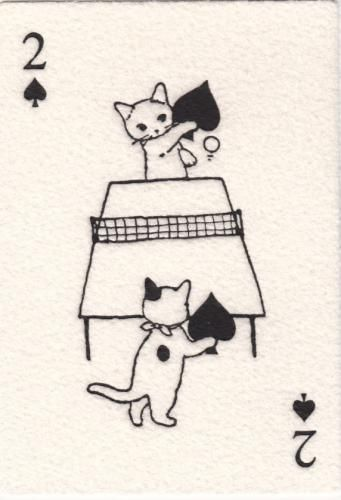 * Two of Spades from Pottering Cat by Yamaguchi Keiko