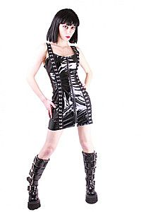 Double Hook Gloss Gothic Lack Kleid