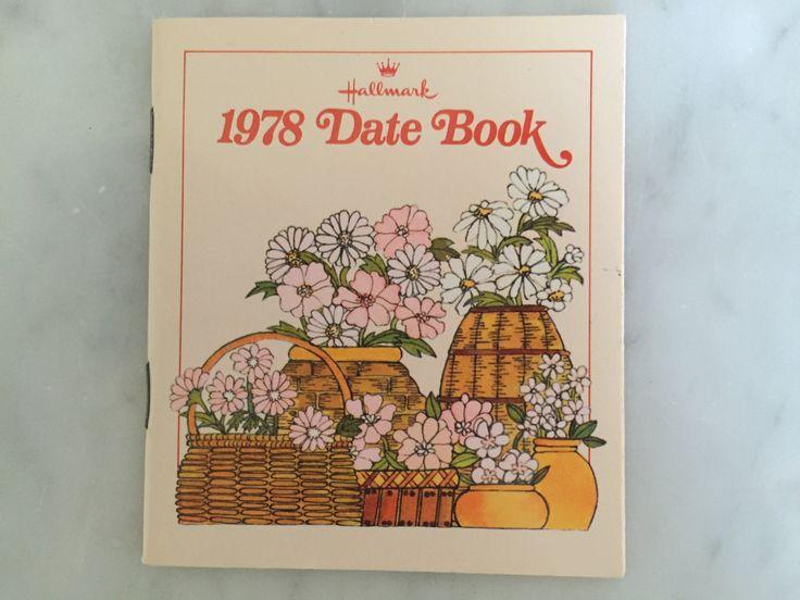 UNUSED NEW Vintage 1978 Hallmark Date Book Pocket Calendar Purse Calendar Collectible Paper Ephemera Hallmark Collectible Flower Baskets by Samanthasunshineshop on Etsy