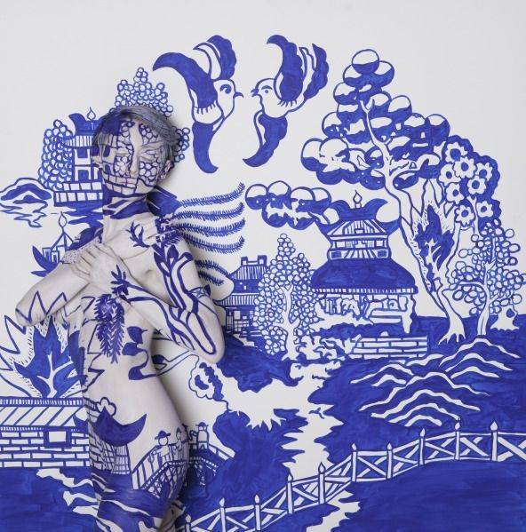 Blue Willow Body painting