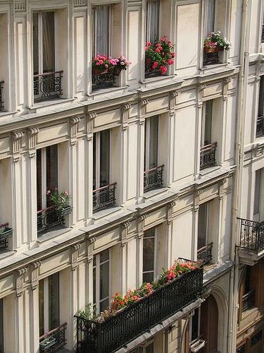 Paris: appartment balconies near Gare de l'Est