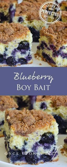 This Blueberry Coffee Cake (endearingly known as Boy Bait) is a delicious and ve…