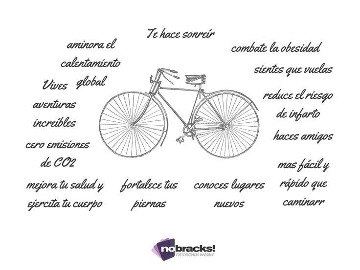 vida sana, bicicleta, ciclismo, bici, sonrisas, sonreir, frases, alegría, nobracks