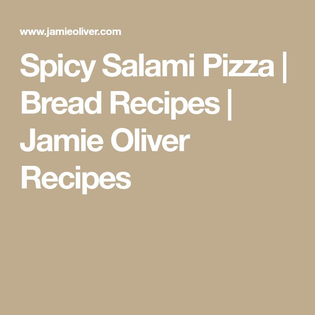 Spicy Salami Pizza | Bread Recipes | Jamie Oliver Recipes