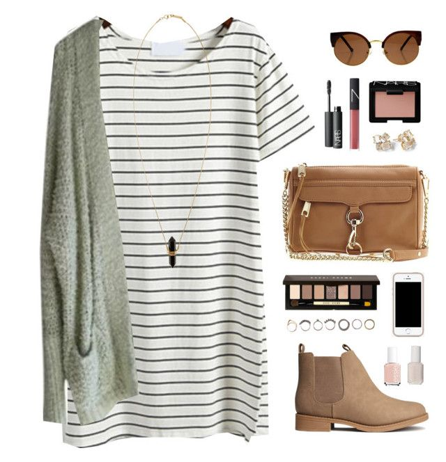 """fall dress"" by classically-preppy ❤ liked on Polyvore featuring H&M, Free People, NARS Cosmetics, Rebecca Minkoff, Bobbi Brown Cosmetics, Kate Spade, Iosselliani, Essie and Isabel Marant"