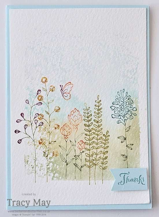 Flowering Fields from Stampin' Up Water Colour Scene  UK Demonstrator Tracy May