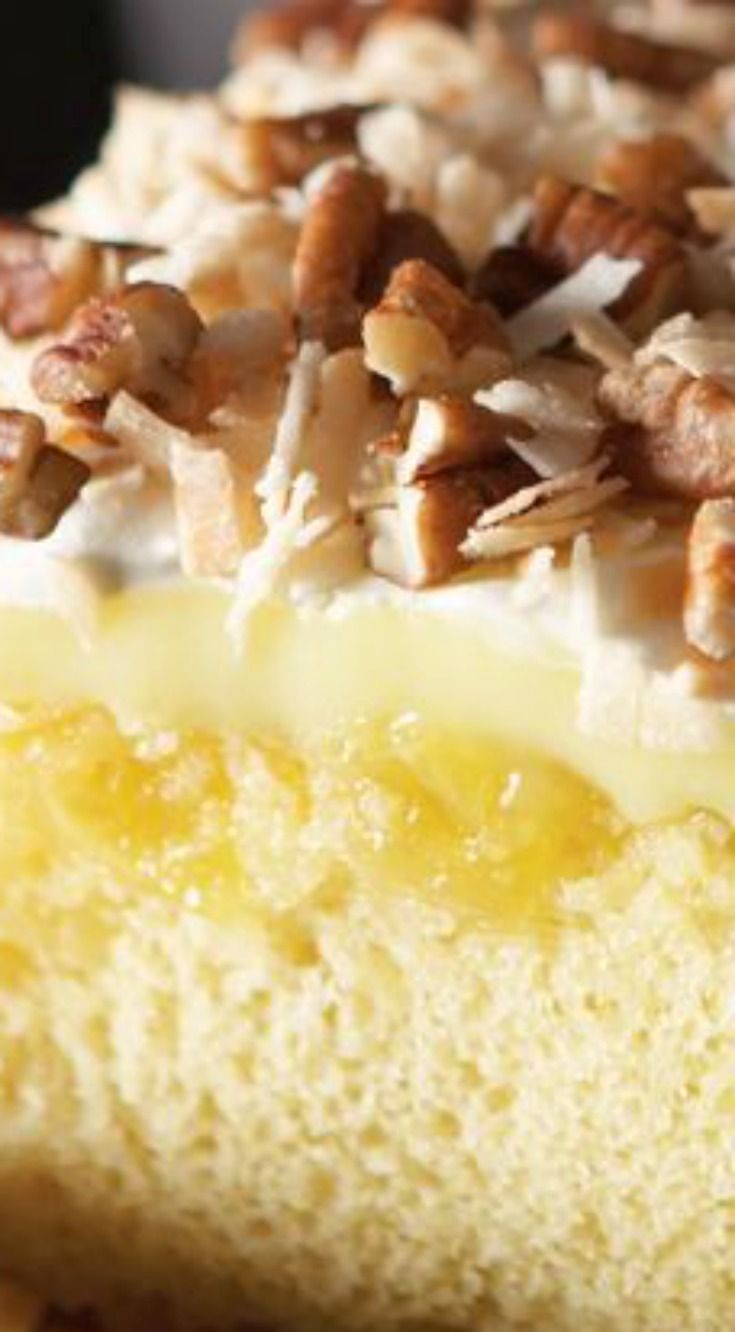 """Luscious Tropical Dream Cake ~ """"This dessert was like having a little slice of vacation."""""""
