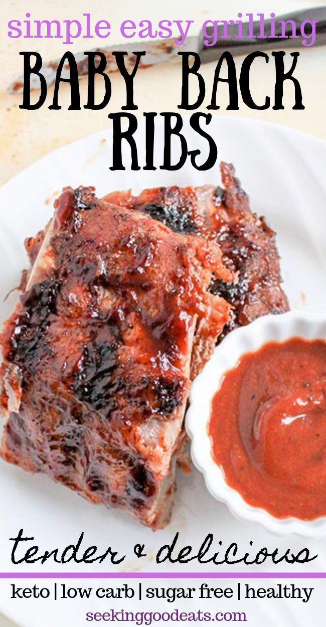 The Best Baby Back Ribs Recipe Grilled Pork Back Ribs Seeking Good Eats Recipe Rib Recipes Recipes Keto Recipes Easy