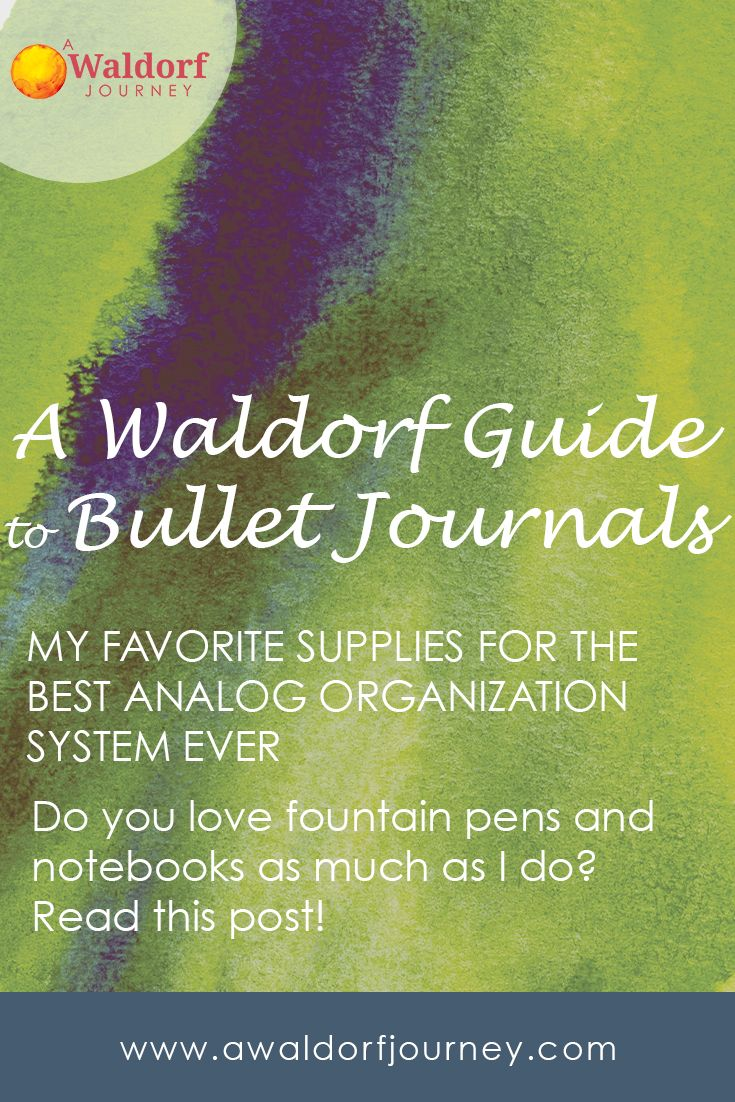 Do you keep a bullet journal? I know I'm not the only pen, pencil and notebook nerd out there. Here's the latest on my favorite supplies for the best little analog organization system ever. Writing and Journaling for the Waldorf Teacher http://www.awaldorfjourney.com/2017/01/writing-journaling-waldorf-teacher/