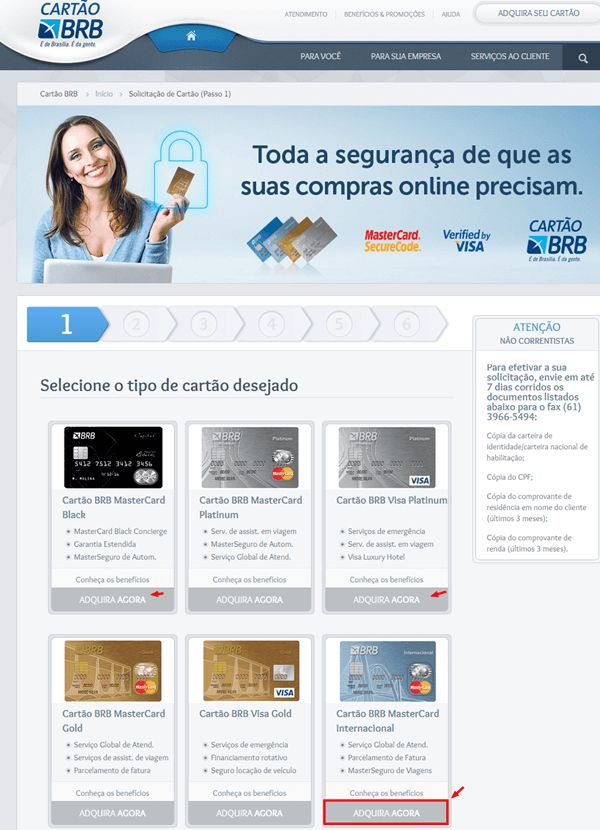 Veja como conseguir seu Cartão de Crédito do Banco de Brasília, solicite seu cartão de crédito BRB em duas bandeiras, Visa ou Mastercard, veja passo a passo como solicitar pela internet e em poucos minutos da sua casa, veja cartão brb fatura veja mais no artigo: