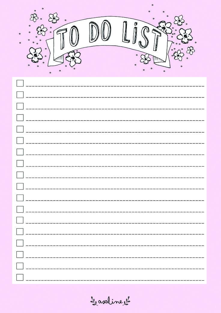 Prenez bien soin de faire une liste c'est important! Cela va vous aider à vou organiser pendant la rentrée et l'année scolaire...