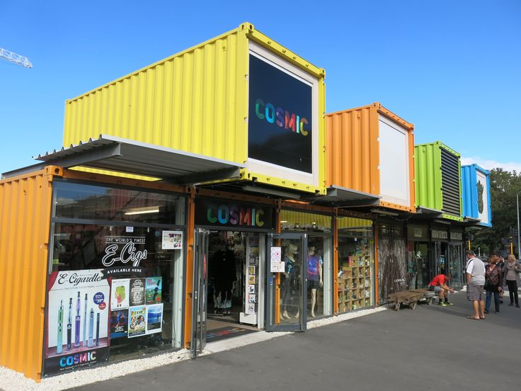 New Zealand Christchurch Re Start Temporary Shipping Containers Mall Public Buildings