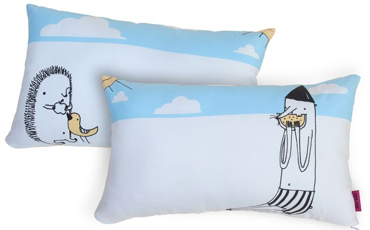 HEDGEHOG& CO decorative pillows for KIDS. Perfect in patterns and colour. by deko boko.