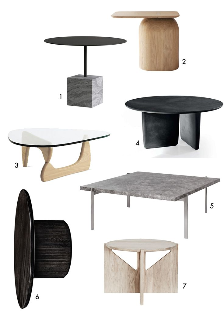 7 modern coffee tables with elegant silhouettes