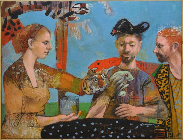 Untitled Original painting by Nikos Christoforakis Acrylic on canvas Size: 90x120cm