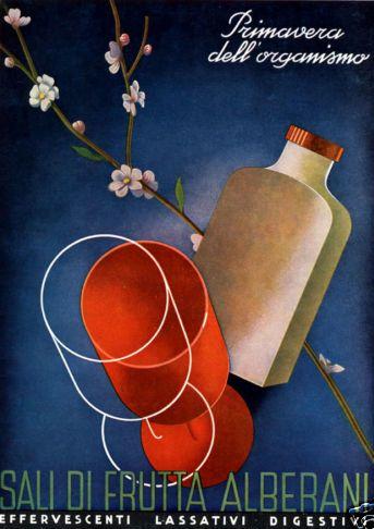 By Giovanni Mingozzi (agenzia Atla-Bologna), 1 9 3 9, Primavera dell'organismo Sali di frutta Alberani.